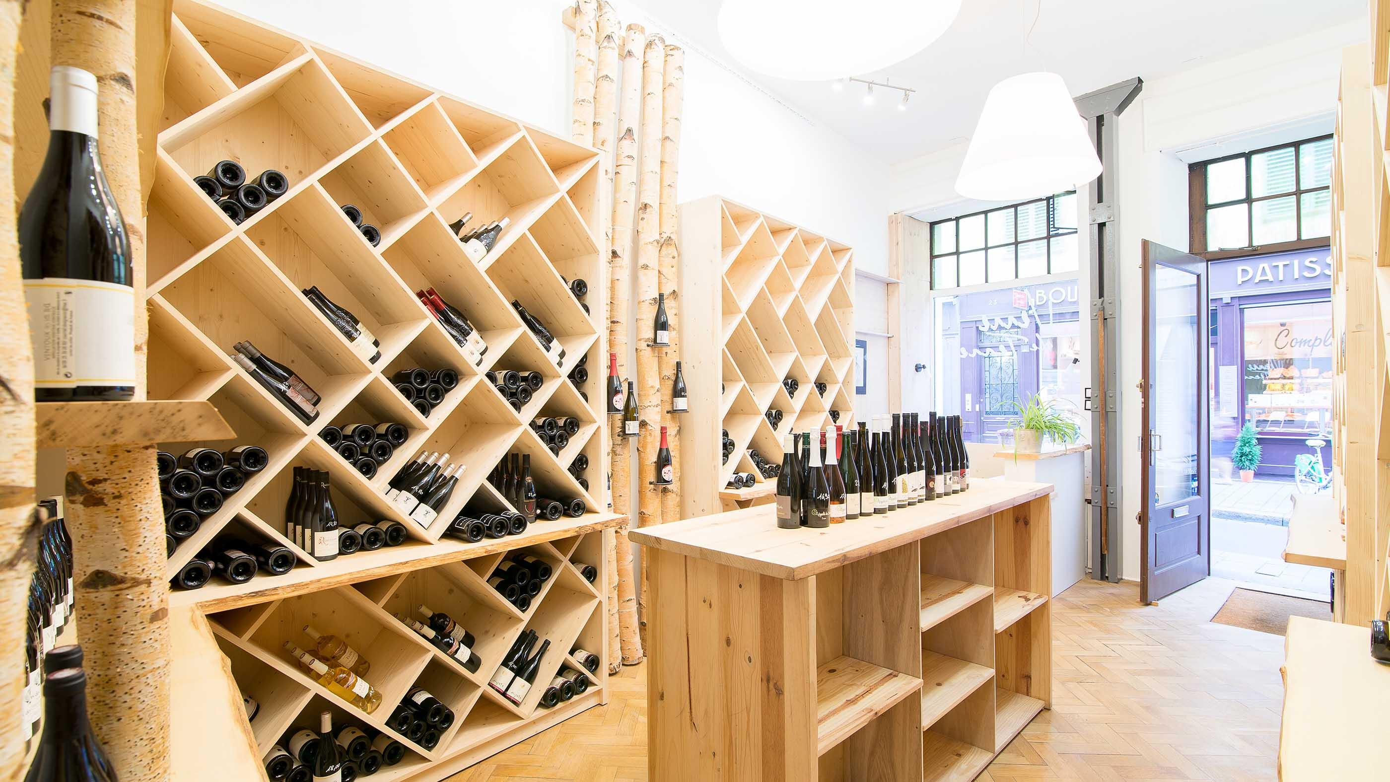 Aménagement original d'un magasin de vente de vins dans le Bas-Rhin