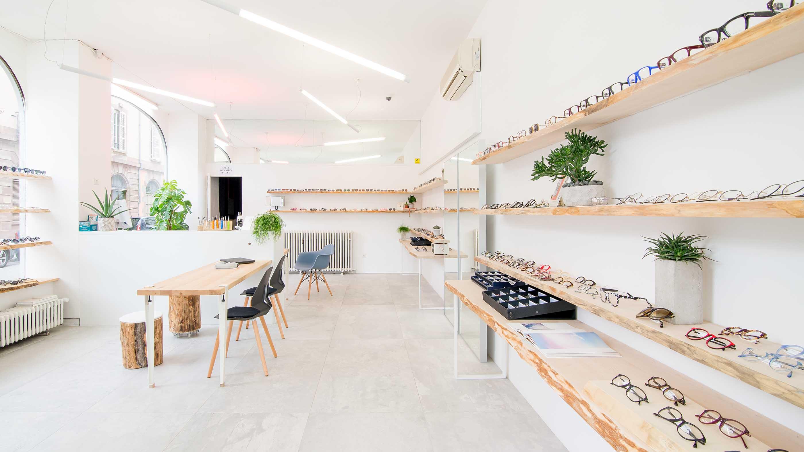 Aménagement d'une boutique de lunettes à Strasbourg